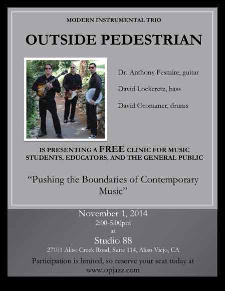 Pedestrian Nov 1 Clinic Flyer